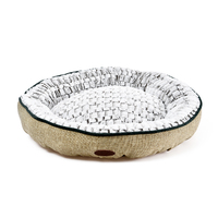 Charles Bentley Linen Soft Pet Bed Taupe / Large